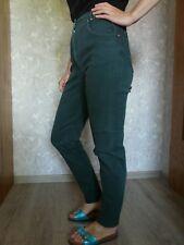 Damen Super Slim 5 Pocket JEANS High Waist Karotte Hose Vintage Grün Gr. 36 XS