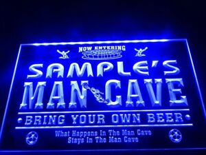 Man Cave Custom Bar LED Neon Sign Light Up Drink Pub Lager Personalised Mancave