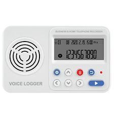 DTR2 Dual 2x línea telefónica Negocio/casa Registrador de llamadas & Grabadora Digital De Voz