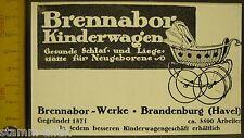 Brennabor Kinderwagen für Neugeborene,Reichstein,Brandenburg,orig.Anzeige 1916
