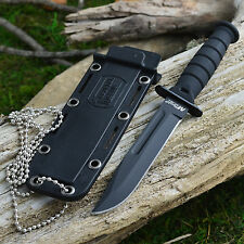 """Mtech 6"""" Kabai Tactical Neck Knife With Kydex Sheath and Beaded Chain 632DB"""