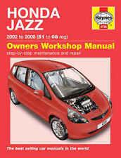 Honda Jazz Manual De Reparación Manual de servicio de taller Haynes Manual 2002-2008 4735