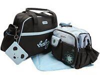 5Pcs Carter's Baby Changing Diaper Nappy Bag Mummy Shoulder Handbag Pink/Brown M