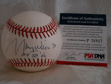 MAURY WILLS  PSA/DNA AUTOGRAPHED BALL DODGERS !!