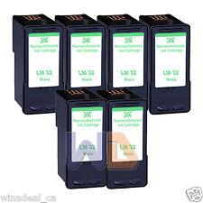 6 Black Lexmark 32 Ink Cartridge For X3330 X5250 X5450 X3350 X5270 X5470 Printer