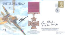 BB1 WWII WW2 BoB RAF Battle of Britain VC cover hand signed THOMPSON DFC