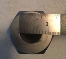 "1""  Base plate Stainless  Feed Through 3/4 inside diameter"