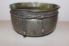 Vintage Claire Burke Tsumura Silver Plated Brass Bowl L#1068