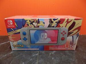 Nintendo Switch Lite Pokemon Zacian & Zamazenta Console NEW PAL SS089