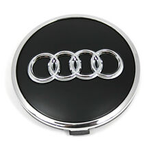 Audi Radzierkappe Original Nabenkappe Nabendeckel Felgedeckel schwarz matt OEM