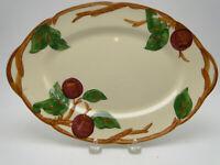 Franciscan USA Apple Pottery 12½in Oval Serving Platter black 1953 mark