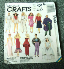 """Mccall'S Pattern #4400 For 11 1/2"""" Barbie Dolls Complete And Uncut!"""