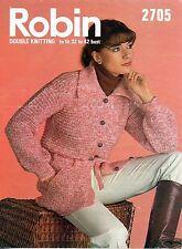 ~ Vintage 1970's Knitting Pattern For Lady's Tie-Belt Jacket~