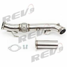 "REV9 3"" 13-17 FORD FOCUS ST 2.0L ECOBOOST CATLESS FLEX TURBO DOWNPIPE STAINLESS"