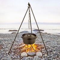 NEW Iron Camp Fire Camping Cooking Tripod Dutch Oven Bush Craft Reenactment Camp