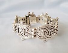 Taxco Mexico Sterling Silver Bracelet 91.5 Gr Signed