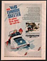 1968 EVINRUDE SKEETER Snowmobile Snow Machine Vintage Print AD