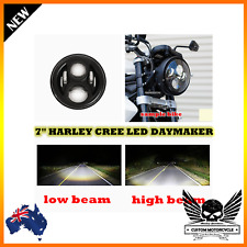 "Black 7"" DOT LED bezel Headlight daymaker Ducati 696 796 821 1100 1200 scrambler"