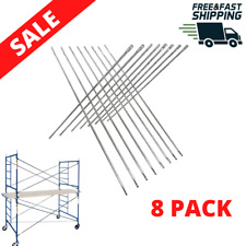 Scaffolding Cross Brace Galvanized 8 Pack Steel Scaffold Construction safety New