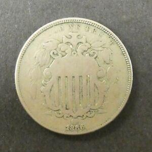 1866 5C Shield Nickel US Coin
