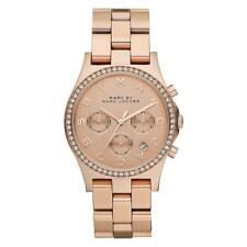 NEW MARC JACOBS MBM3118 LADIES ROSE GOLD GLITZ WATCH - 2 YEARS WARRANTY