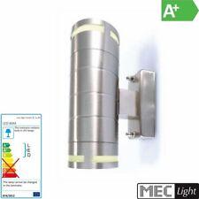 Acero Inoxidable LED Lámpara de Jardín / Pared Up & Down 2x GU10 Foco - 8W
