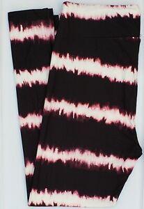 TC LuLaRoe Tall & Curvy Leggings Cute White Pink Black Tie Dye NWT G20