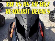 SKI DOO BRP XS XM XR RS MX Z TNT SUMMIT GSX RENEGADE HEADLIGHT DECAL STICKER MXZ