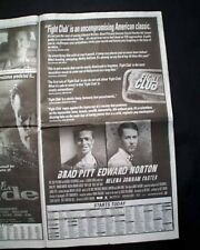 Best FIGHT CLUB Film Movie Opening Day AD & Review 1999 Los Angeles Newspaper