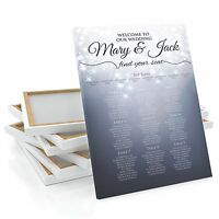 Personalised Sparkle Wedding Table / Seating Plan Large A1 A2 A3