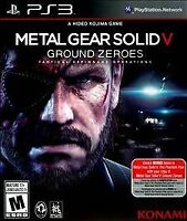 Metal Gear Solid V 5 Ground Zeroes Sony PlayStation 3 2014 PS3 cib game complete