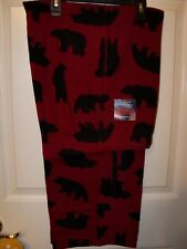 Croft & Barrow Bears Fleece Sleep Lounge Pajama PJ Pants Mens XL NWT