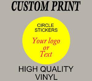 Printed logo sticker - Custom Label vinyl stickers, personalised