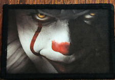 Pennywise the Clown From IT Morale Patch Tactical Military Flag USA Badge hook