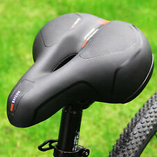 Comfort Wide Bike Bicycle Soft Pad Saddle Seat with Reflective Strip Red