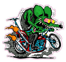 """Rat Fink Harley Decal- 5"""" x 5"""" Free Shipping"""