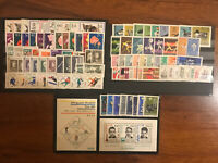 POLAND 1962-1969 COMPLETE-YEAR-SET-ALL-STAMPS-AND-SOUVENIR-SHEETS-BASIC MNH