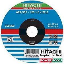 Hitachi 752552 disques À Tronçonner Métal 125 x 6 x 22 2 mm