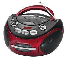 AEG Stereoradio SR 4353 rot-schwarz CD/MP3/AUX-IN Kassettenradio CD-Player Radio