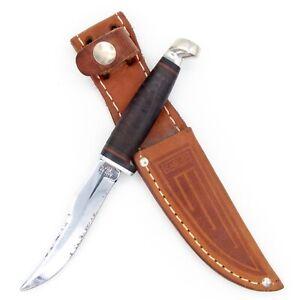 Old CASE XX Mini Hunting Knife & Sheath 323-3 1/4 Small Hunter Skinner c.1965-78