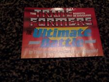 Transformers  the Ultimate battle G1 Poster leaflet 1986