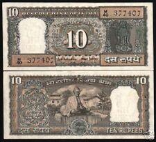 INDIA 10 RUPEES P69 B 1969 COMMEMORATIVE BR MAHATMA GANDHI UNC MONEY BANK NOTE