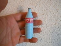Ancienne vintage Miniature Bouteille Evian Cousette Porte Aiguille Couture