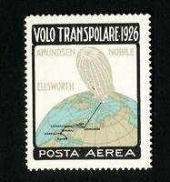 Italy Stamps 1926 Transpolar Zeppelin Label VF OG LH