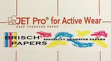 """INKJET TRANSFER PAPER FOR WHITE FABRIC: """"JET PRO ACTIVE WEAR"""" (8.5""""x11"""") 25 CT"""