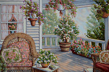 FIORA COZZI ORIGINAL OIL PAINTING SIGNED W/COA 36 X 24 COUNTRY FLORAL