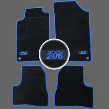 TAPIS SOL MOQUETTE LOGO BLEU SPECIFIQUE PEUGEOT 206 & 206SW 1.4 1.6 2.0 HDI