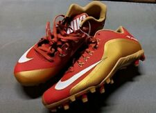 Nike Alpha Football Cleats Size US 13 Red/Gold/White Spikes 742766 628 Shoes New