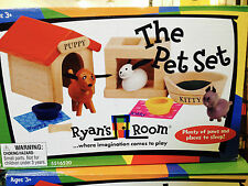 Ryan's Room The Pet Set by Small World Toys~Wooden 10 pc Set~New in Box