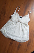 Y2K Cami Top Floral Lace Vintage Style Size S